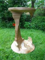 Sculpted Birch plywood table by TMFineFurniture