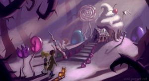 Candy House by JoieArt