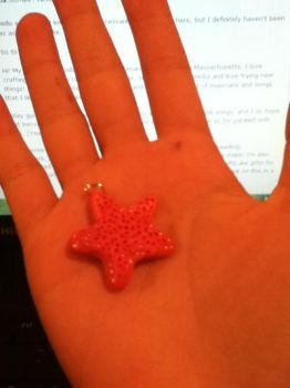 Starfish Necklace Charm by belle-13