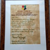 Hogwarts Acceptance Letter Cross Stitch by fleaing
