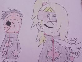 Deidara and Tobi by Britney151