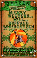 Gig Poster - Mickey Western by mibi