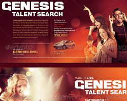 Genesis Talent Search Event Flyer Template by loswl