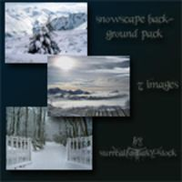 snowscape background pack by surrealfantasy-stock