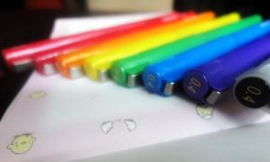 Rainbow pens by Leaush