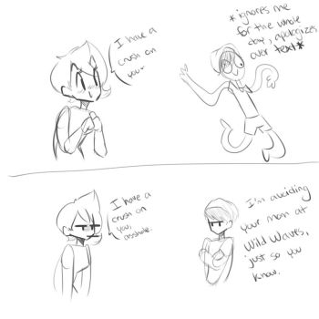 Of course he completely avoids the subject- by xXToastieXx