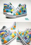 Psychedelic Chucks by Bobsmade