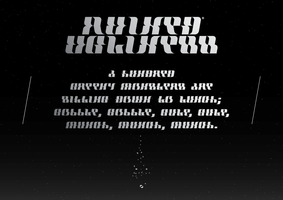 Ruined Ugliness Typeface by woweek