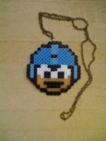 Megaman Perler beads by JohnnyAre