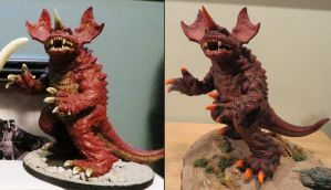 Before and After Baragon by Legrandzilla