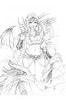 Here Be Dragons (Pencils) by AberrantKitty