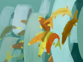 fishes and waves by Otiar