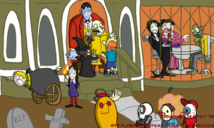 Halloween with the Addams by BrokenTeapot