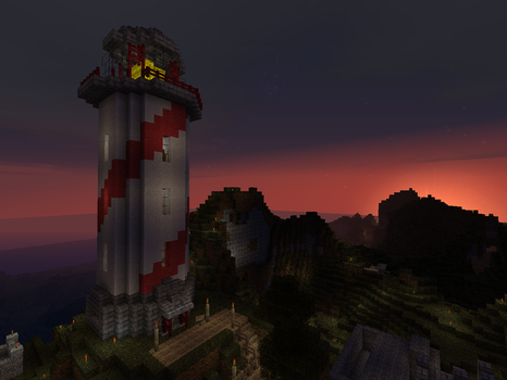 Minecraft Lighthouse by loopyun1