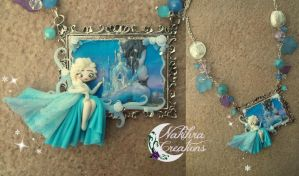 Disney frozen cameo polymer clay by Nakihra