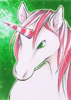 ACEO Candy Cane by R-a-t-t-a-t-a