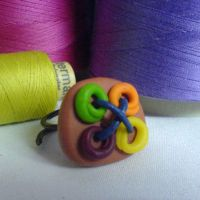 multicolored ring by strictlyhandmade