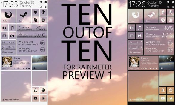 TENoutofTEN for Rainmeter - Preview 1 by Dariosuper