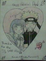 1,000 Hits NaruHina V-Day by Ninawitchgrl