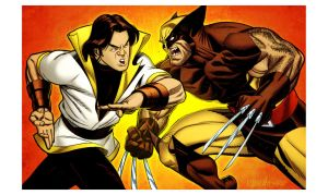 Karate Kid vs Wolverine by spidermanfan2099