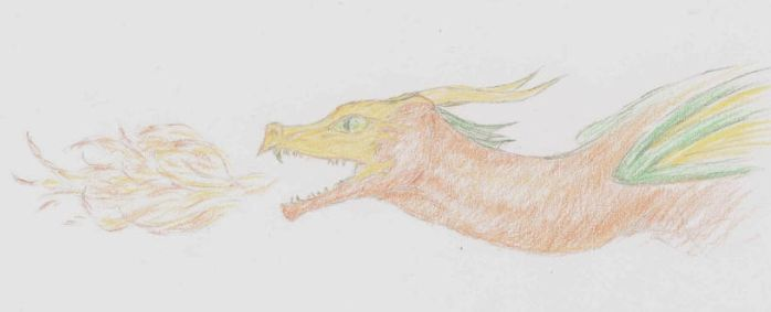 Colored Pencil Firebreather by Imbecamiel