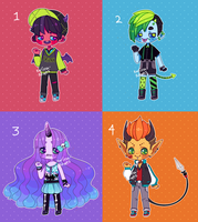 Neon Monster Babs (closed) by Kariosa-Adopts