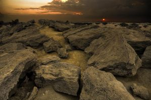 Oman Rocks at Sunset by Lightmotiv