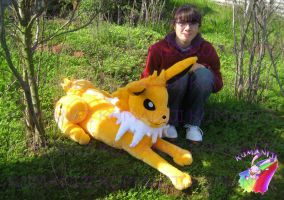 jolteon plush real size handmade by chocoloverx3