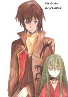 Lelouch Lamperouge and C.C. by Jelly9614
