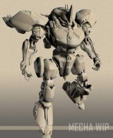 mecha concept wip-2 by 3dsquid
