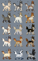Canine Adoptables by Kitchiki