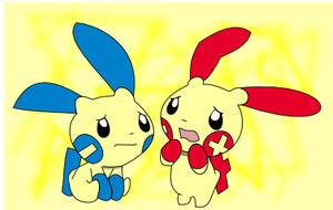Plusle and Minun by Rmage76