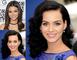 Victoria Justice + Katy Perry Fusion by Tigersquall96