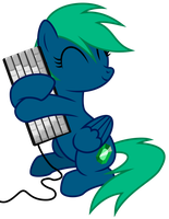 Request/Commission - Emerald and Her Keyboard by masemj