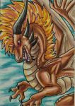 Bronze Dragon ACEO by Ember-Eyes
