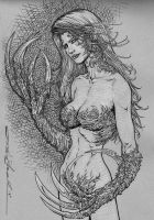 Witchblade mixed media drawing by skeel76