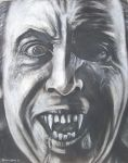 Christopher Lee as Dracula by brettgray