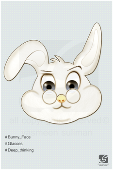 Bunny face by yasmeen-suliman