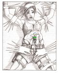 Death of Lara...by giant wasp larvas by Deresoluted