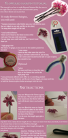 Flowered hairpins - how to by Grassangel