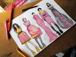 Fashion illustrations by Cleicha