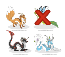 [SOLD] Adoptables: Crossed Dragons