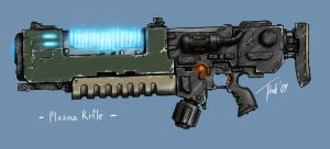 Plasma Rifle modification by DarkLostSoul86
