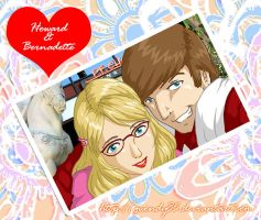 BBT Vday: Howard+Bernadette by gwendy85