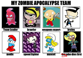 My Zombie Apocalypse Team by Smurfette123