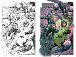 Villains Month: BRAINIAC #1_a by DustinYee