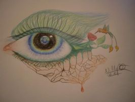 The Earth In Our Eye by LittleToxicRose