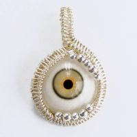 EYE AM WATCHING WIRE PENDANT by Create-A-Pendant