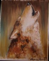 Earth oil color technique Wolf by mooni