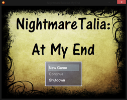 NightmareTalia: At My End (Starting Screen) by YoukoTsukiko